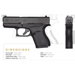 GLOCK Pistole 43 Ka1.9mm Para (1-reihiges Magazin)