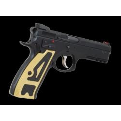 DAA CZ SP01 Aluminum Griffschalen dünn gold