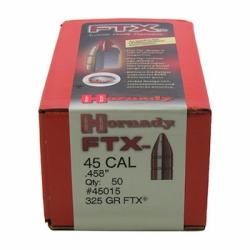 HORNADY 45015 FTX BULLETS .45/.458 325GR 50 Stk