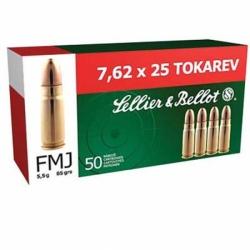 S&B 7,62x25 Tokarev 85 grs FMJ 50 Stk