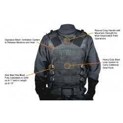 UTG 547 Law Enforcement Tactical Vest Black